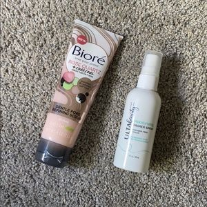 Face cleanser and makeup primer spray!